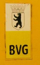 Berliner Wappen mit BVG Schriftzug