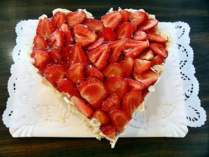 Kuchen in Herzform