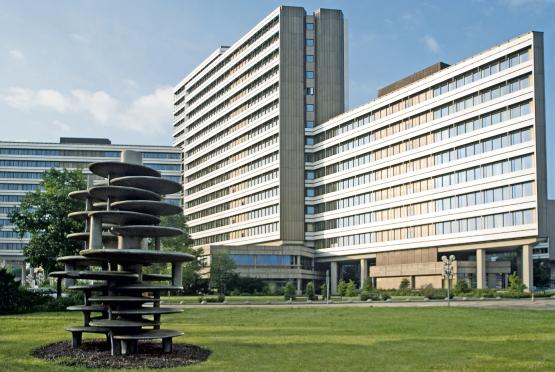 Die Zentrale der Bundesagentur für Arbeit vom Institut für Arbeitsmarkt- und Berufsforschung aus gesehen. Foto: Pressefoto der Bundesagentur für Arbeit