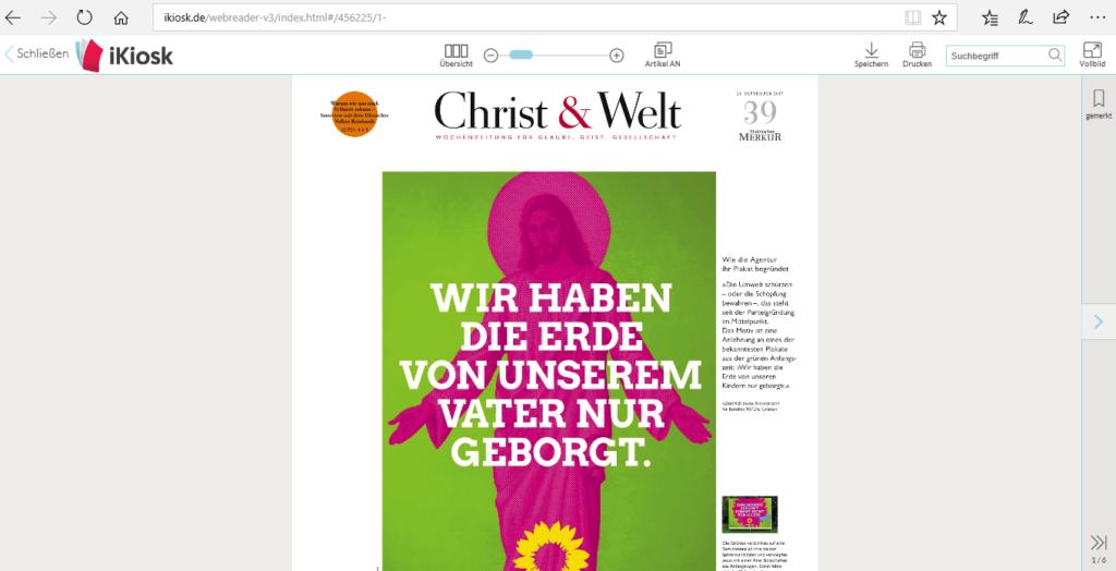 Chist und Welt Jesus