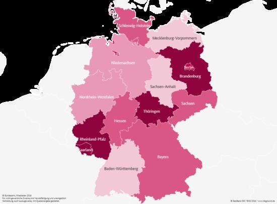 Gleichstellungsatlas Landtagsabgeordnete