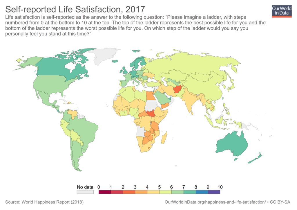 Zufriedenheit Cantril Skala